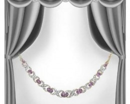 12.79 CT Amethyst & Diamond Designer Necklace $1185