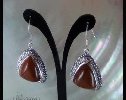 Burnt Silver Dangler Earrings / In Style