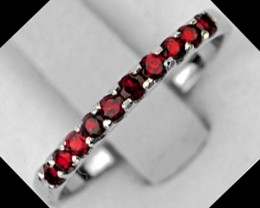 NATURAL AAA RED GARNET 925 SILVER RING 1$