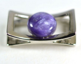 2.02grm Natural Sugilite with 925 Sterling Silver Pendant 1$