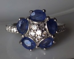 Size 7 Brand New Sapphire Sterling Silver Ring