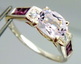 PINK SPINEL  SILVER RING 14.80  CTS  SIZE-8.25    RJ-231