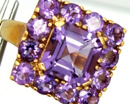 AMETHYST  SILVER RING 30.35  CTS  SIZE8.25-    RJ-259