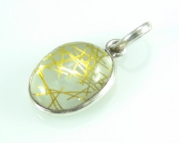 Unique / Exotic 925 Sterling Silver Pendant (Rutile)