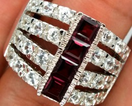 GARNET  SILVER RING  61.35 CTS  SIZE-8.5    RJ-275