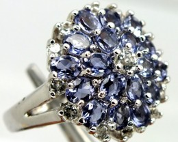 TANZANITE SILVER RING 44.20  CTS  SIZE- 8.25   RJ-280