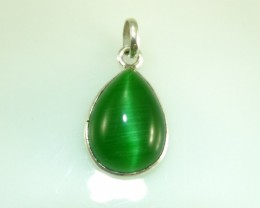 Unique / Exotic 925 Sterling Silver Pendant (Jade)