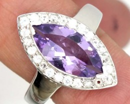 AMETHYST  SILVER RING  21.50 CTS  SIZE- 9.50   RJ-319
