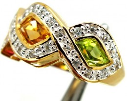 TOURMALINE  SILVER RING  31.25 CTS  S6.25IZE-    RJ-324