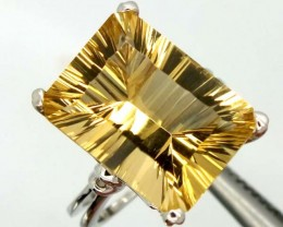 CITRINE SILVER RING  30 CTS  SIZE-6.50    RJ-345