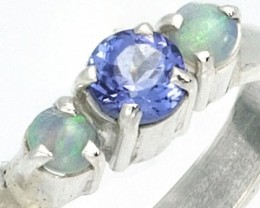 9 RING SIZE TANZANITE AND OPAL RING [SJ4012 ]