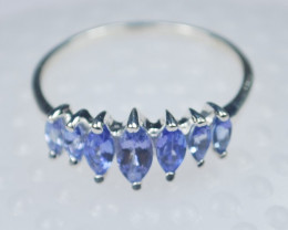TANZANITE RING-Sterling silver-Occasion gift-Natural Gem