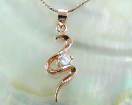 Graceful Draped Pendent  Rose Gold 18K N/R