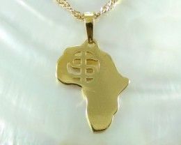 Unique Africa Pendent Yellow Gold 18K N/R