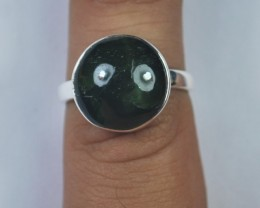 NATURAL CATS EYE RING-Sterling silver-Occasion gift