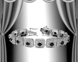 $1 No Reserve 7.75 CTW Sapphire Designer Bracelet $550