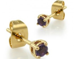 $1 No Reserve 0.36 Amethyst Designer Earrings $385