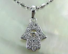 Charming Islamic Sapphire (Hand) Pendant Pendent 18K N/R