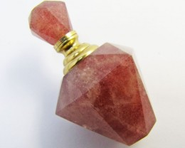 125 CTS RED QUARTZ PERFUME BOTTLE GG 1135