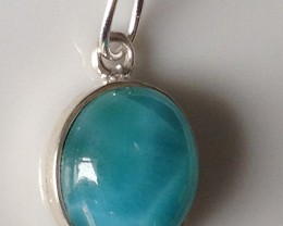 16.05ct LOVELY LARIMAR STERLING SILVER PENDANT