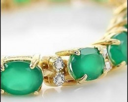 11.09 CT Emerald Diamond 18K Bracelet