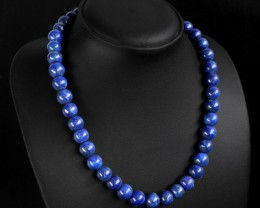 Genuine Blue Lapis Lazuli Beads Necklace