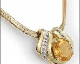7.49 CTW Citrine & Diamond Designer Necklace $675