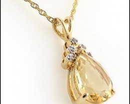 Fine Jewelry 5.18 CT Citrine & Diamond Designer Necklace $565