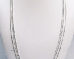 Parcel three long Silver plated Chain s MJA 844