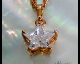 Adorable Topaz Star 18K Gold Filled Pendant