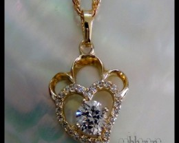 Pretty Heart shaped 14K Gold Filled Pendant N/R