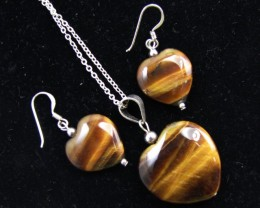 55 cts Three Tiger eye Pendanst for Price One MJA 925