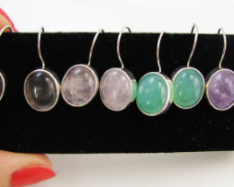 4  MIXED GEMSTONE EARRINGS-RE SELLERS PARCEL   MJA1159