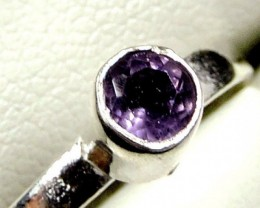 Cute Natural Amethyst  Ring Size 71/2   JGG 121a