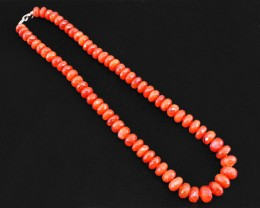 Most Outstanding Genuine 383.00 Cts Orange Carnelian Beads Necklace