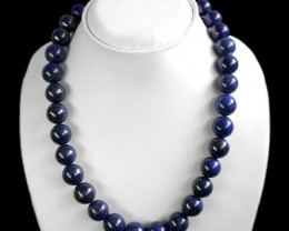 Top Quality Sparkling Natural 750 Cts Blue Lapis Lazuli Necklace