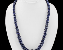 Genuine 420.00 Cts Blue Tanzanite Beads Necklace Strand