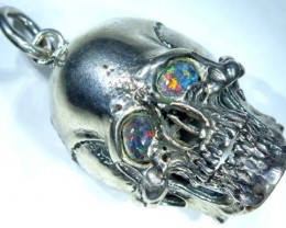 FASHION PENDANT SKULL WITH OPAL EYE 189.90 CTS  SJ-28