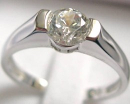VERY NICE SILVER RINGS WITH CZ ..size 81/2