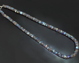 Genuine  Untreated Labradorite Beads Necklace