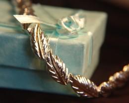 """925 Jewelry Grade Sterling Silver """"Leaf"""" Bracelet"""
