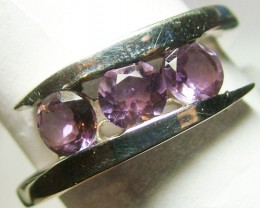 AMETHYST SILVER RING   24 CTS SIZE 7.5 ADK-74