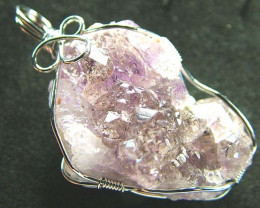 AMETHYST CLUSTER WIRE WRAPPED 47.60 CTS [GT314]
