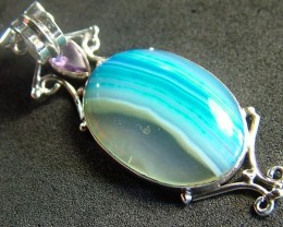 STUNNING LARGE AGATE PENDANT 50.50 CTS.  [GT800]