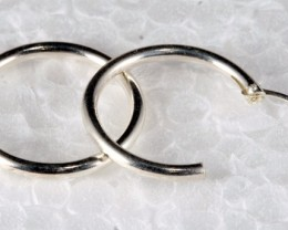 Sterling Silver Loop Earring Set 15 mm plain SE-21