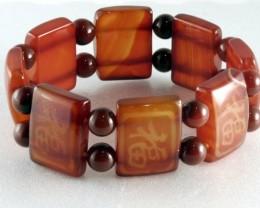 Fashionable Natural Jade Bracelet 18.5 cm JB-8