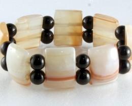 Fashionable Natural Jade Bracelet 19 cm JB-10