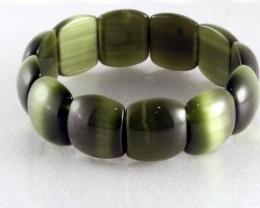 Cats Eye Bracelet 19 cm elastic vivid colors CE-09