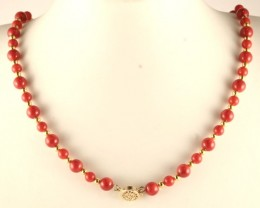 Magnificent Coral Necklace Bracelet & Earring Set CNS-01