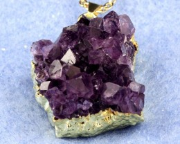 Amethyst Crystal Cluster Pendant from Uruguay  ACC-08